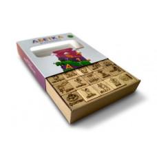Кубики з дерева 'Абетка + арифметика'
