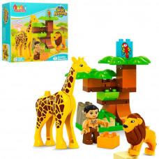 Конструктор JDLT Зоопарк (фігурка, лев, жираф) 5289