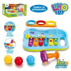 Гра ксилофон музичний , з логічною іграшкою (кульки+молоточок)