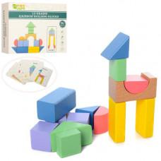 Дерев'яна іграшка Геометрика 15 деталей