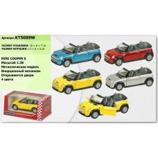 Машинка Kinsmart Mini Cooper S Convertible