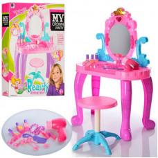 Трюмо іграшкове 661-39 (44-23-74см)  +стільчик+фен і аксесуари