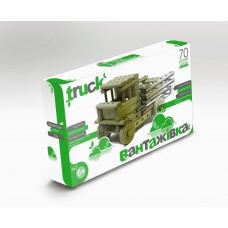 Конструктор дерев'яний ARINWOOD Вантажівка 70 деталей 01-102