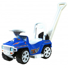 Машина-Каталка Оріончик з ручкою (синя)