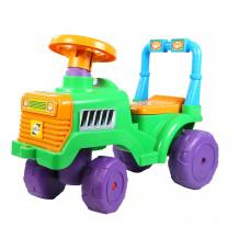 Машинка-каталка 'Бебі Трактор'  зелений 45-31-61см