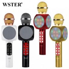 Мікрофон WS-1816, акумулятор, світлові ефекти 25 см, USB, Bluetooth, в коробці
