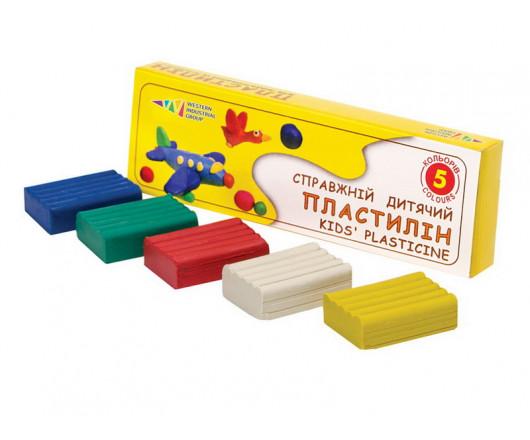 Пластилін 5 кольорів, 50 г, ' Гама'