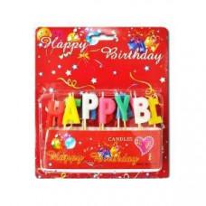 Свічки для торта 'Happy Birthday'