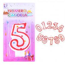 Свічки-цифри для торта 'Пряникові', 8 см