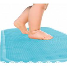 Антиковзаючий килимок XL, матеріал гума 75*34,5   Блакитний