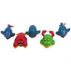 Водоплаваюча іграшка, тваринки, заводні, 5 шт в сітці