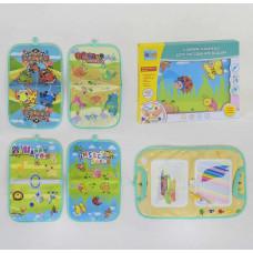 Книжка-коврик для малювання водою RE 333-132-133-134-135, 4 вида, в коробці