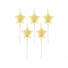 Свічка в торт з фігурками 'Золоті зірочки'