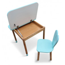 Комплект ARINWOOD Зайчик Блакитний з боксом (столик+стільчик) 04-025B-BOX