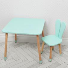 Комплект ARINWOOD Зайчик Блакитний (столик + стілець)  04-025B