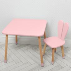 Комплект ARINWOOD Зайчик Рожевий ( столик + стілець ) 04-025R