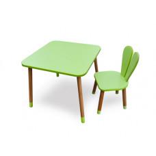 Комплект ARINWOOD Зайчик Салатовий ( столик + стілець ) 04-025G