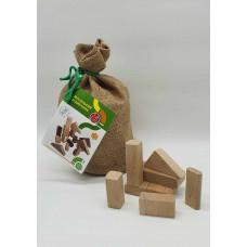 Кубики дерев'яні Arinwood Маленький будівельник E321