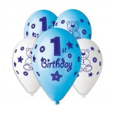 Кульки пастель, 12', Happy 1-st Birthday boy
