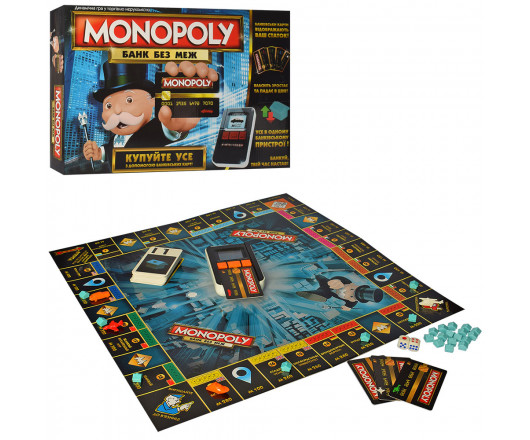 Настільна гра TG 002, Монополія, термінал-зв, св, кредит карти укр, фішки, бат, коробка