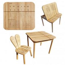 Комплект ARINWOOD Зайчик Еко Математика (столик + стільчик) 04-025EKO-BOX