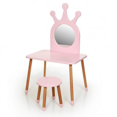 Комплект ARINWOOD Трюмо (столик + табурет) Рожевий 03-01PINK