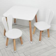 Комплект ARINWOOD Зайчик Білий (столик + 2 стільця) 04-025W+1