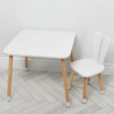 Комплект ARINWOOD Зайчик Білий (столик+стілець) 04-025W