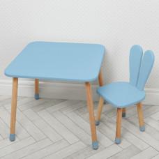 Комплект ARINWOOD Зайчик Пастельно-синій (столик+стілець) 04-025BLAKYTN