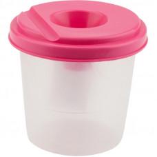 Стакан-непроливайка, одинарний, пластиковий, рожевий, KITE