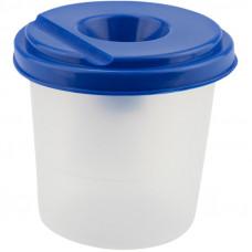 Стакан-непроливайка, одинарний, пластиковий, синій, KITE