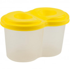 Стакан-непроливайка, подвійний, пластиковий, жовтий, KITE