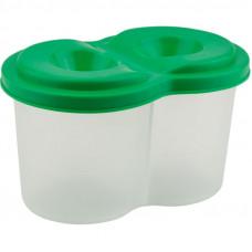Стакан-непроливайка, подвійний, пластиковий, зелений, KITE