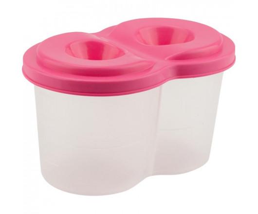 Стакан-непроливайка, подвійний, пластиковий, рожевий, KITE
