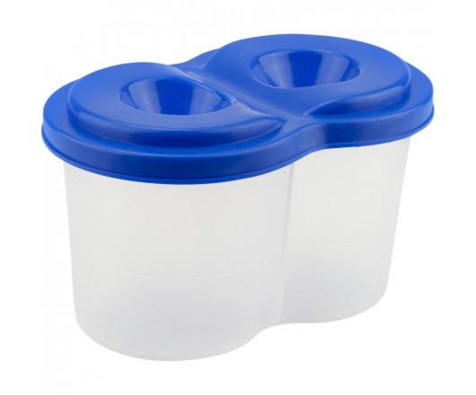 Стакан-непроливайка, подвійний, пластиковий, синій, KITE