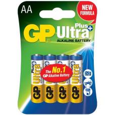 Батарейка GP ULTRA + ALKALINE 1.5V 15AUP HM-2S2 лужна, LR6, AA