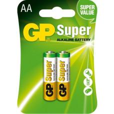 Батарейка GP SUPER ALKALINE 1.5V 15A-S2 лужна, LR6, AA
